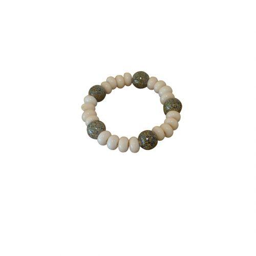 Frédéric Marey collier perle galet verre filé