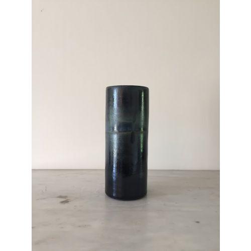 Grand vase anneau, collection Encre bleue