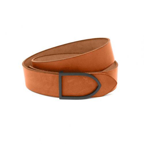ceinture cuir rouge boucle laiton dorée faite main