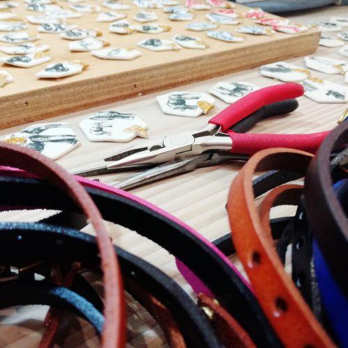 Atelier de Morgane Thomassin, céramiste et créatrice de bijoux
